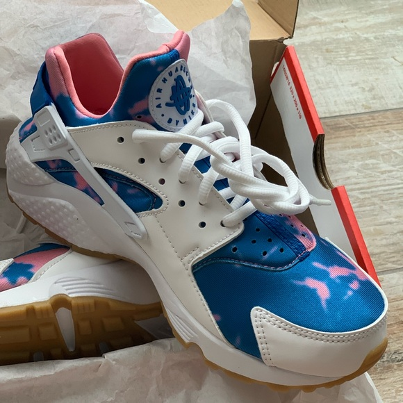 Pinkblue And White Tie Dye Nike Air